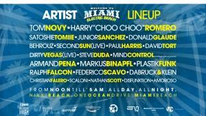 Miami Electric Beach Artist Lineup