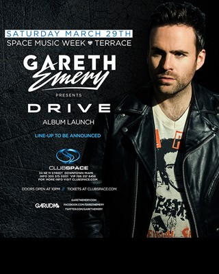 Gareth Emery Drive Release Party Space Miami